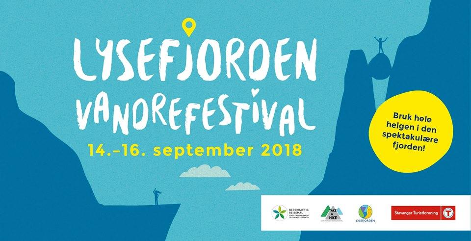 Lysefjorden hikingfestival 14 – 16 sept 2018