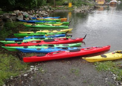Kayaks lined up and ready
