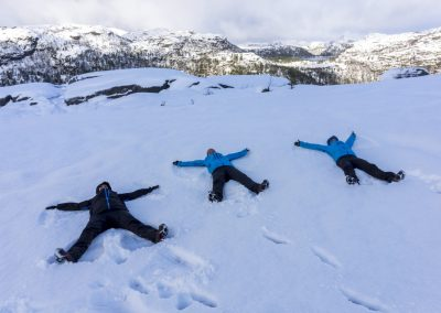 Preikestolen-Winter-Hike_snow angels