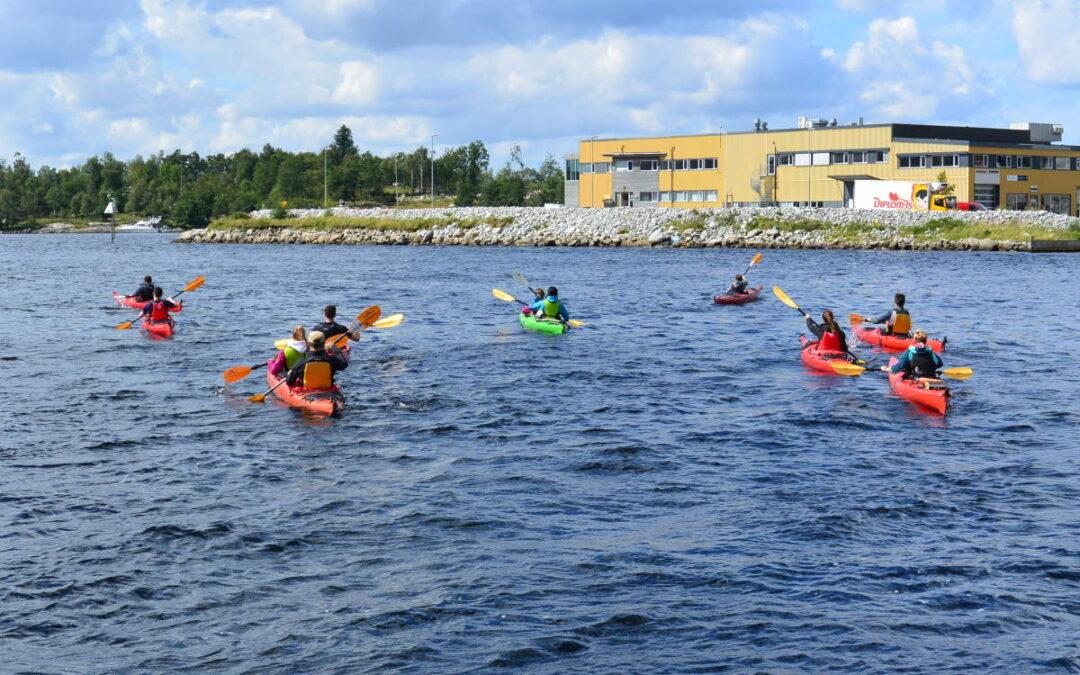 Kayak, Guided kayak Jørpelandsvågen